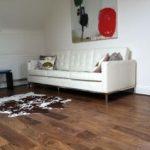 Engineered Walnut wood flooring Lacquered finish