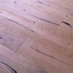 Unfinished distressed antique wood flooring oak with Granwax Nature applied
