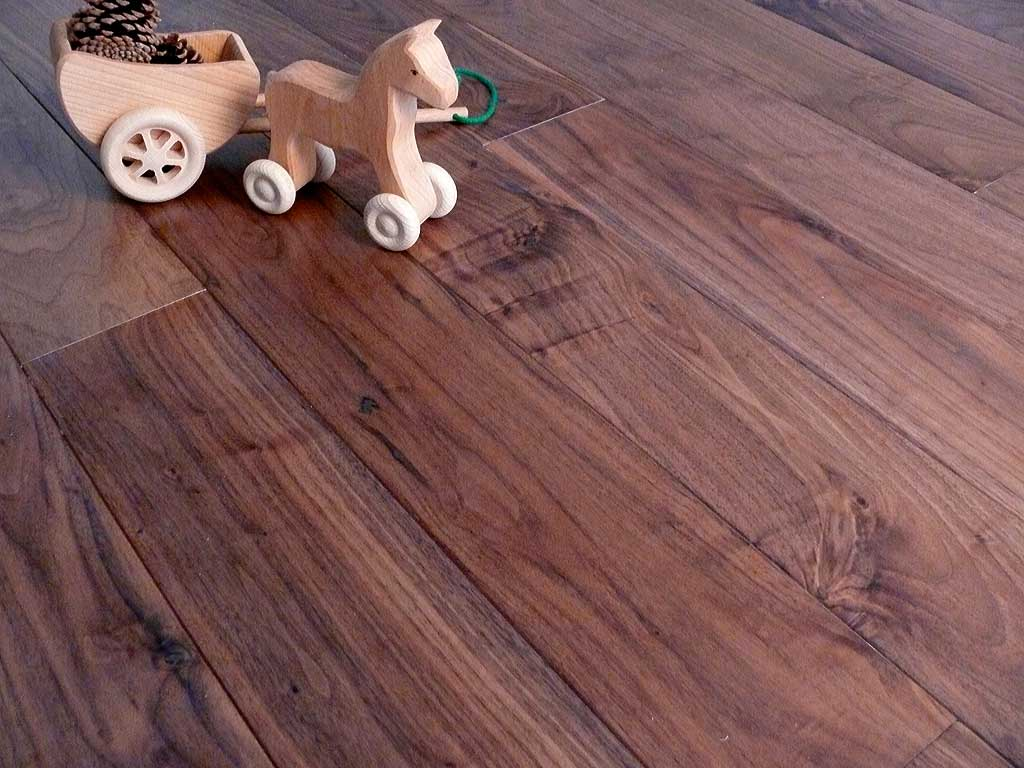 Walnut engineered wood flooring