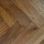 Engineered oak blocks smoked brushed and oiled