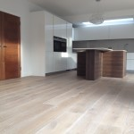 Oak flooring with white oil finish