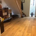 Brushed and oiled oak engineered