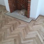 Unfinished Engineered beveled Herringbone blocks