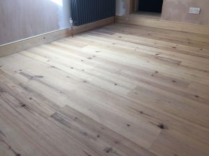 Unfinished solid pitch pine flooring