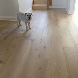 Invisible finish oak engineered